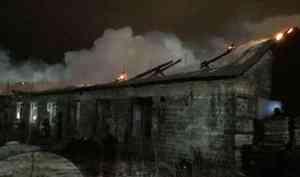 Несколько часов потребовалось северодвинским пожарным, чтобы ликвидировать крупное возгорание на складе