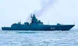 Новейший фрегат Северного флота «Адмирал Касатонов» продолжает испытания наБелом море