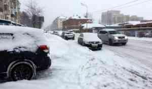 Стихия сильнее подрядчика: основные архангельские магистрали утопают в снегу