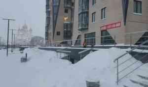 Обильные снегопады в Поморье принесли теплые атлантические циклоны