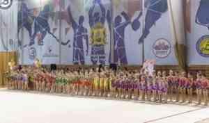 Юные гимнастки выявляли сильнейших на соревнованиях в Архангельске