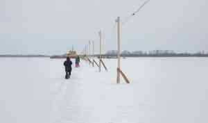 Этой зимой вАрхангельской области откроют 128 ледовых переправ