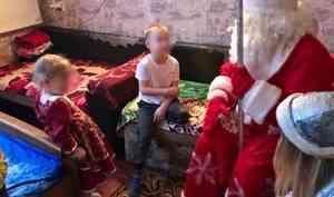 Управление Росгвардии по Архангельской области присоединилось к новогодним поздравлениям семьей, состоящих на профилактическом учете