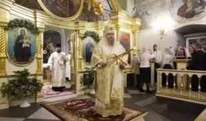 Митрополит Корнилий в праздник Рождества Христова совершил великую вечерню в Ильинском соборе