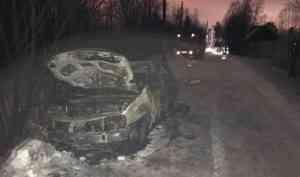 ВПриморском районе при пожаре всвоём автомобиле погиб мужчина