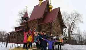 Святочные традиции возродили на Кегострове прихожане местного храма