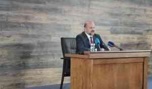 Игорь Орлов отвечает на вопросы журналистов Архангельской области