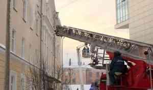 Сегодня в5 корпусе САФУ прошли пожарно-тактические учения