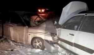 На юге Поморья в результате столкновения двух легковушек пострадали пять человек