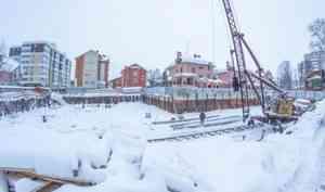 На ЖК «Art Line» в Архангельске ведется устройство ростверка фундамента