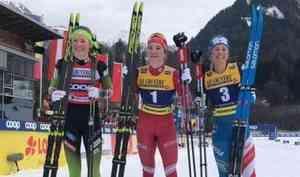 Лыжница Наталья Непряева выиграла классический спринт наэтапе Кубка мира вОберстдорфе