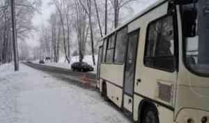 В Архангельске пьяный водитель врезался в маршрутку