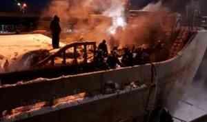 В Архангельске произошёл пожар на судне «Святитель Иннокентий»