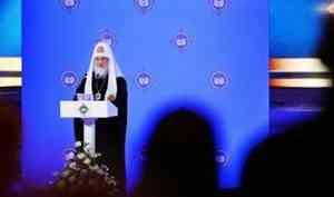 Патриарх Кирилл: Солидарность, единство народа, его возвращение к духовным корням стало источником и прочным основанием Победы
