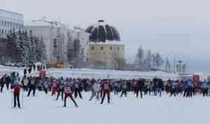 Участниками «Лыжни России - 2020» в Архангельске стали около пяти тысяч северян