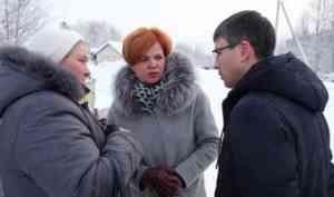 Надежда Виноградова проверила ход реализации реформы ТКО в Октябрьском округе Архангельска