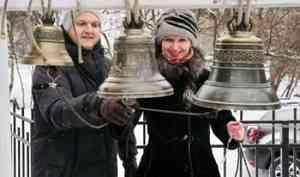 Владимир Петровский дал колокольный концерт в храме Новомучеников на привокзальной площади в Архангельске