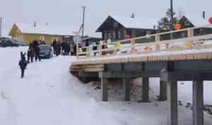 В Коношском районе открылся новый мост через реку Тавреньга