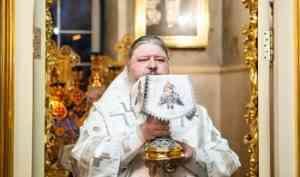 Служение митрополита Корнилия утром 22 феврал 2020 года