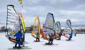 Встолице Поморья завершились региональные соревнования позимнему виндсёрфингу исноукайтингу