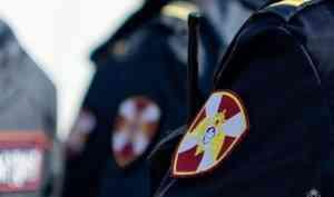 В Котласе Архангельской области наряд Росгвардии задержал подозреваемого в покушении на угон транспортного средства