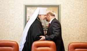 Митрополит Корнилий и губернатор Игорь Орлов обсудили строительство Михаило-Архангельского собора