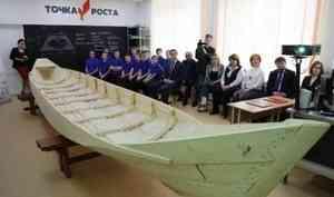 В Уемской школе ученики построили традиционную поморскую лодку