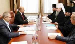 Игорь Орлов призвал ускорить темп строительства кафедрального собора в Архангельске