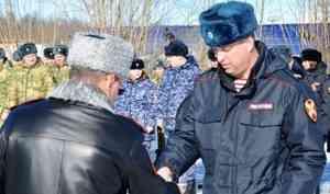 В Архангельске вручили награды сотрудникам и военнослужащим Росгвардии в связи с профессиональным праздником