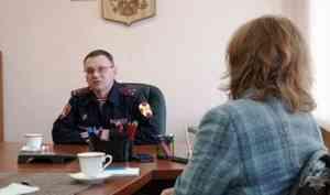Начальник управления Росгвардии по Архангельской области встретился с главными редакторами печатных СМИ