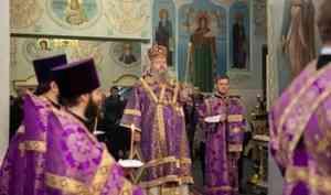 Митрополит Корнилий совершил всенощное бдение накануне недели преподобного Иоанна Лествичника