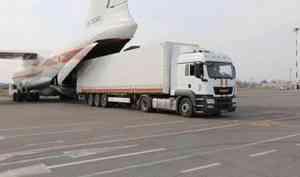 Борт МЧС России с 20 комплектами водоналивных дамб вылетел в Алтайский край