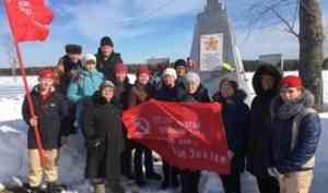 Копия Знамени Победы побывала в двадцати деревнях и селах Лешуконского района
