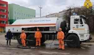 Подразделения МЧС России участвуют в дезинфекции социально-значимых объектов (видео)