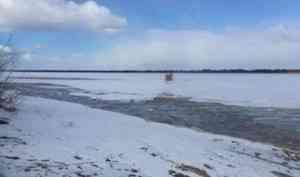 Голова ледохода вышла на реку Малая Северная Двина