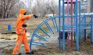 Подразделения МЧС России продезинфицировали порядка 1000 социально значимых объектов по всей стране