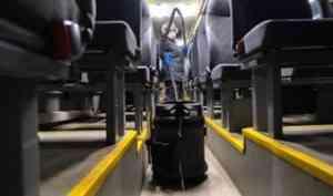 Общественный транспорт стали дезинфицировать до 60 раз чаще