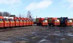 ВАрхангельске представили современную мусороуборочную технику