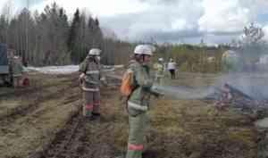 В вельском подразделении ЕЛЦ прошли тактические учения тушения лесного пожара