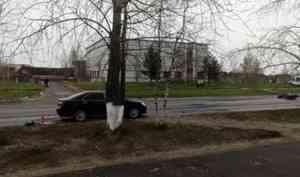 В Северодвинске погиб мотоциклист, въехавший в иномарку