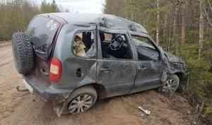 В Онежском районе перевернулся внедорожник. Погиб пассажир