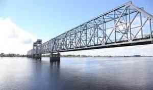 Железнодорожный мост в Архангельске будет закрыт для проезда по ночам до 15 июня