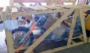 Дахоть мотоцикл! Почта России доставила вАрхангельск два чоппера изВладивостока