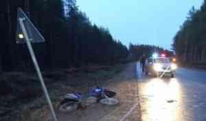 В Пинежском районе погиб байкер, налетевший на дорожный знак