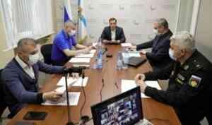 Александр Цыбульский провел в Северодвинске выездное заседание оперштаба по противодействию распространению COVID-19