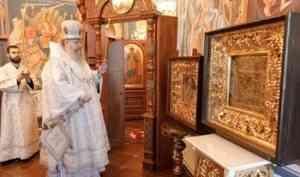 Митрополит Корнилий совершил всенощное бдение в храме на архиерейском подворье
