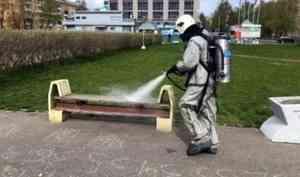 В Северодвинске пожарно-спасательные подразделения закончили дезинфекцию