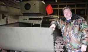 Северодвинские поисковики восстанавливают плавающий танк Т-37А