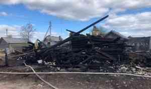 ВПлесецком районе при пожаре погиб мужчина