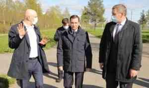 Александр Цыбульский проинспектировал качество уборки улиц Архангельска
